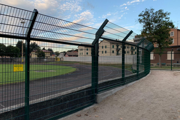 Recinzione Stadio Municipale di Castellanza, lavoro svolto da Retissima