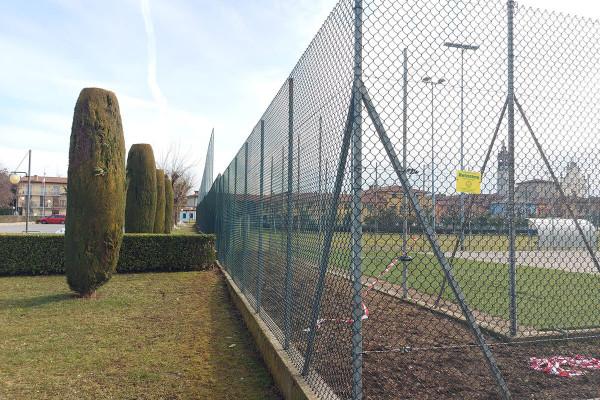 Retissima, recinzione campo da calcio oratorio a Bolgare